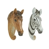 Benzara Creative Zebra Wall Hook 2 Assorted