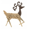 "Benzara Captivating Wood Metal Deer 18""W, 23""H"