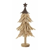 "Marvelous Wood Metal Xmas Tree 10""W, 21""H"