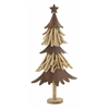 "Stunning Wood Metal Xmas Tree 14""W, 27""H"