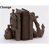 Eye-Catching Nautical Bookend Pair, Rustic Brown