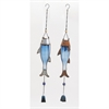 Dazzling Metal Glass Silver Wind Chime 2 Assorted, Multicolor