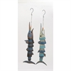 Gorgeous Metal Fish Wind Chime 2 Assorted, Multicolor