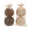 Benzara Classy Natural Decorative Ball 2 Assorted