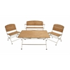 Benzara Classy Metal Wood Patio Set Of 4