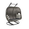 Benzara Striking Metal Polyethylene Wicker Swing
