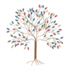 Chic Metal Tree Wall Decor, Multicolor