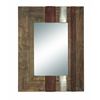 Benzara 36 Inches High Wood Mirror Beautifully Designed Rectangular