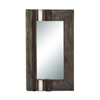 "Wood Wall Mirror 32""W, 47""H, Brown"