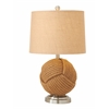 "Benzara Rope Metal Table Lamp 27""H"