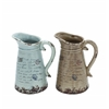 Ceramic Pitcher With Strong Built & Intricate Aesthetic Detailing