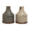 Benzara Stylish And Vinatge Themed Set Of 2 Ceramic Vases