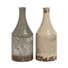 Benzara Set Of 2 Antique Themed Classy Ceramic Vases