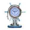 Benzara Wood Clock In Nautical Theme With Sailor Wheel Frame