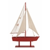 Benzara The Lovely Wood Canvas Sail Boat