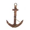 Benzara Creative Styled Amazing Wood Rope Anchor