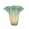 Benzara Artistic Glass Fluted Vase