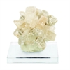 "Calcite Glass Gem 6""W, 5""H, White, Yellow, Clear"