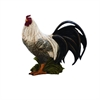 "Polystone Rooster 13""W, 12""H, White"