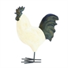 "Polystone Metal Rooster 14""W, 18""H, Black, White"