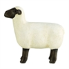 "Polystone Sheep 18""W, 17""H, Black, White"
