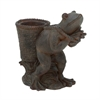 "Polystone Brown Frog Planter 16""W, 16""H, Brown"