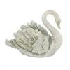 "Polystone Swan Vase 18""W, 15""H, Gray"