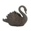 """Polystone Swan Vase 18""""W, 15""""H, Brown"""