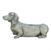 "Polystone Dog Flower Pot 23""W, 8""H, Gray"