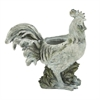 "Polystone Rooster Planter 19""W, 19""H, Gray"