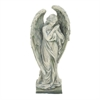 "Polystone Angel 14""W, 31""H, Gray"