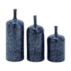 "Ceramic Vase S/3 10"", 12"", 14""H, Black, White"