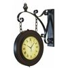 Benzara Metal Wall 2 Side Clock For Better Time Keeping