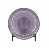 "Glass Purple Bowl With Stand 16""D"