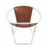 Benzara Customary Styled Fancy Metal Leather Chair