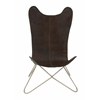 Benzara Comfortable & Durable Metal Leather Chair