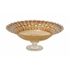 "Benzara Attractive Glass Footed Brown Bowl 16""W, 6""H"