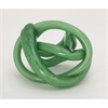 Enthralling Glass Green Knot, Green