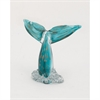 Chic Glass Whale Tail, Turquoise & Gold