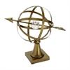 "Metal Acryl Globe 18""W, 15""H, Bronze, Clear"