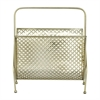 "Metal Magzine Rack 15""W, 17""H, Gold"