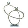 """Metal Acrlyc Sculpt 19""""W, 21""""H, Silver"""