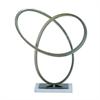 """Metal Acrlyc Sculpt 16""""W, 17""""H, Silver"""