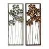 "Metal Wall Decor 2 Assorted 12""W, 31""H, Copper"