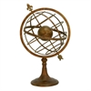 "Metal Globe Deco 23""W, 36""H, Copper"