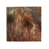 Amazing Aluminum Canvas Art, Shades of brown