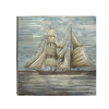 Nautical Themed Aluminum Canvas Art, Neutral tones