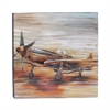 Artistic Aluminum Canvas Art, Shades of Brown