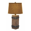 Benzara Classy Wooden Table Lamp With Beautiful Shade Design