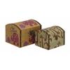 Benzara Mesmerizing Styled Wood Canvas Box